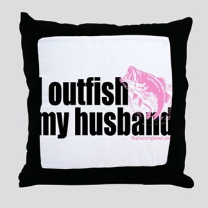 Outfish My Husband Throw Pillow