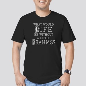 Brahms Quote Men's Fitted T-Shirt (dark)