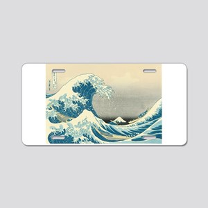 Hokusai Great Wave Aluminum License Plate