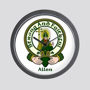 Allen Clan Motto Wall Clock