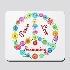 Swimming Peace Sign Mousepad