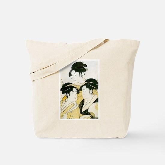 Utamaro Three Women Tote Bag