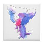 Inked Kitty Tile Coaster