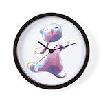 Inked Bear Wall Clock