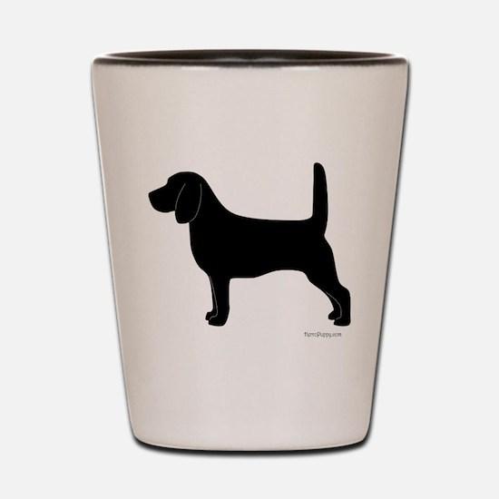 Beagle Silhouette Shot Glass