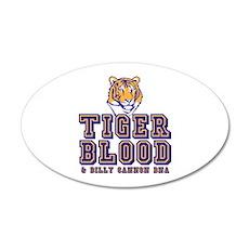 Tiger Blood 22x14 Oval Wall Peel