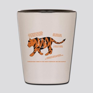 Tiger Facts Shot Glass