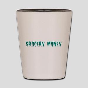 Grocery Money Shot Glass