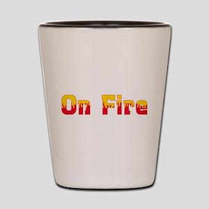 On Fire Shot Glass