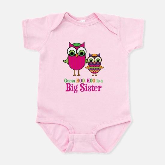 Guess Hoo Big Sister Infant Bodysuit