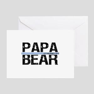 Papa Bear 2011 Banner Greeting Card