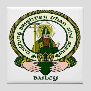 Bailey Clan Motto Tile Coaster