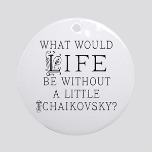 Tchaikovsky Music Quote Ornament (Round)