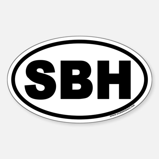 St Barts SBH Euro Oval Decal