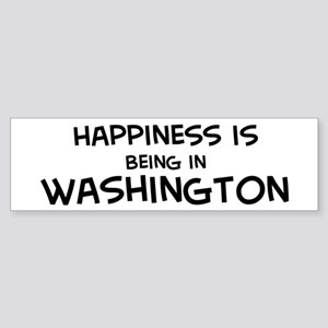 Happiness is Washington Bumper Sticker