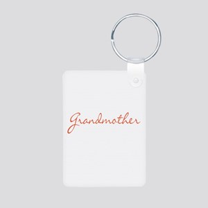 Grandmother Aluminum Photo Keychain
