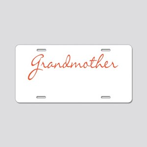 Grandmother Aluminum License Plate