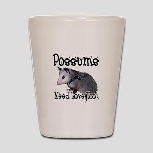 Possums Need Love Shot Glass