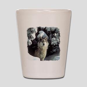 Winter Wolf Shot Glass