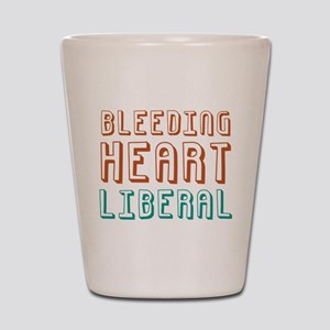 Bleeding Heart Liberal Shot Glass