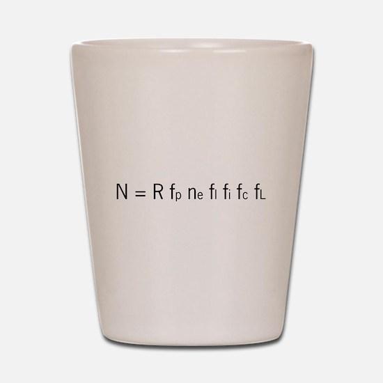 Drake Equation Shot Glass