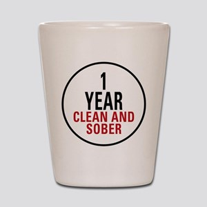 1 Year Clean & Sober Shot Glass