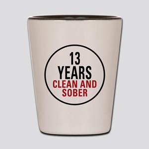 13 Years Clean & Sober Shot Glass