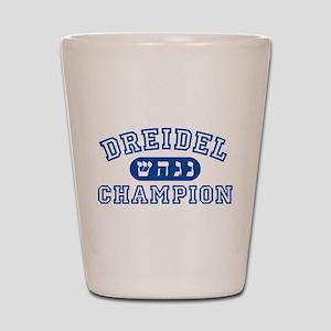 Dreidel Champion Shot Glass