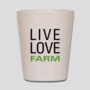 Live Love Farm Shot Glass