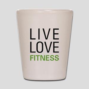 Live Love Fitness Shot Glass