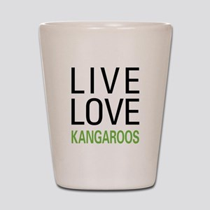 Live Love Kangaroos Shot Glass