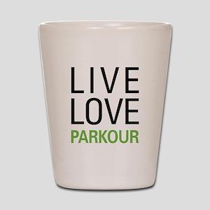 Live Love Parkour Shot Glass