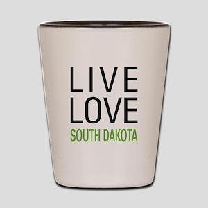 Live Love South Dakota Shot Glass