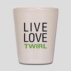 Live Love Twirl Shot Glass