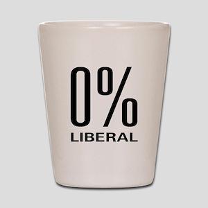 0% Liberal Shot Glass