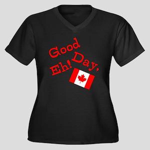 Good Day, Eh! Women's Plus Size V-Neck Dark T-Shir