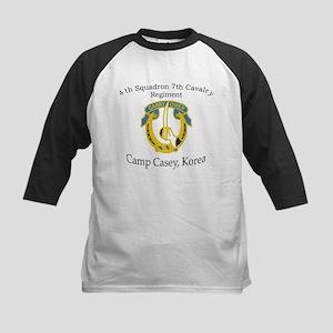 4th Squadron 7th Cavalry Kids Baseball Jersey