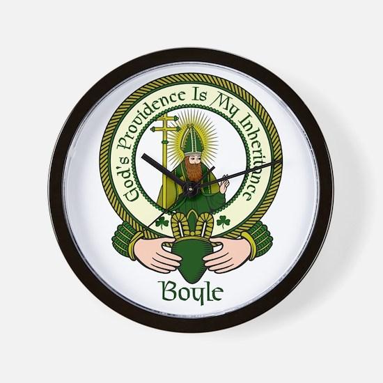 Boyle Clan Motto Wall Clock