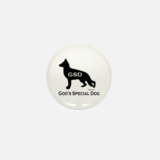 GSD - God's Special Dog Mini Button