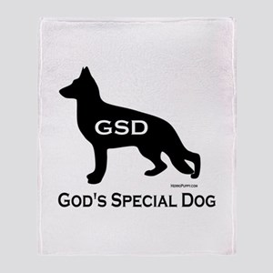 GSD - God's Special Dog Throw Blanket