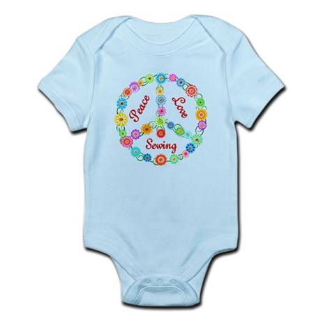 Sewing Peace Sign Infant Bodysuit