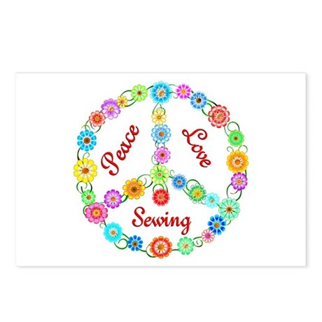 Sewing Peace Sign Postcards (Package of 8)