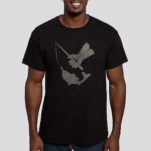 Serious Fishing Men's Fitted T-Shirt (dark)