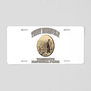 Roosevelt At Yosemite Aluminum License Plate
