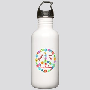 Scrapbooking Peace Sign Stainless Water Bottle 1.0