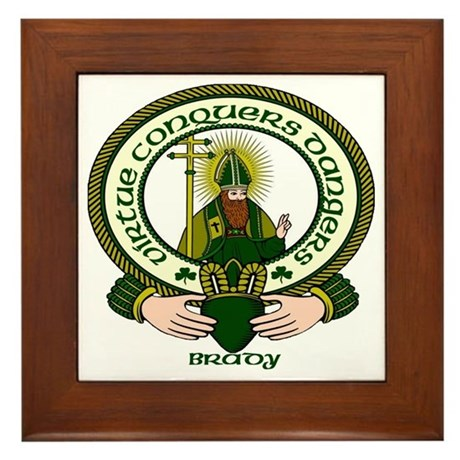 Brady Clan Motto Framed Tile