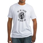 Walking on Indian Land Logo Fitted T-Shirt