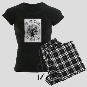 Walking on Indian Land Logo Women's Dark Pajamas