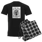 Walking on Indian Land Logo Men's Dark Pajamas