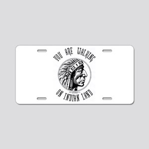 Walking on Indian Land Logo Aluminum License Plate
